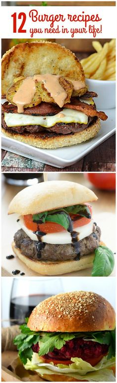 12 Burger Recipes you need in your life