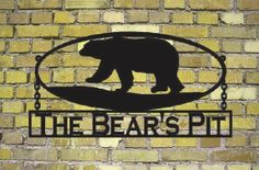 Custom Text Metal Bear Sign F17 by RustyRoosterMetal on Etsy, $59.67