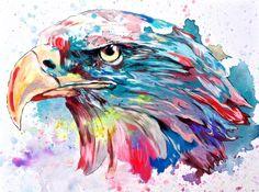 """""""Eagle""""  30x40 cm.  Acrylic on canvas  2015"""