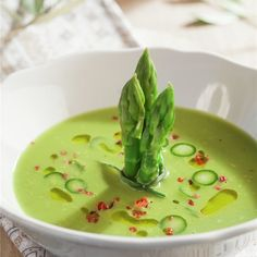Soup Recipes, Great Recipes, Cooking Recipes, Healthy Recipes, Cooking Ideas, Healthy Food, Italian Cookies, Gazpacho, Asparagus Recipe