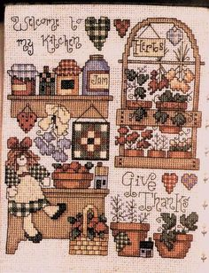 Schema punto croce Welcome My Kitchen 01