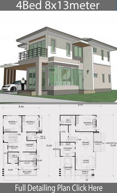 Home Design Plan with 4 Bedrooms. - Home Ideas - - Home Design Plan with 4 Bedrooms. – Home Ideas Architektur Home Design Plan mit 4 Schlafzimmern. – Home Design mit Plansearch