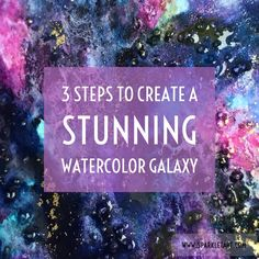 How To Create a Dark Watercolor Galaxy with Amazing Patterns for a Star Trek Journal Page