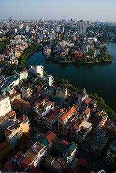 Hanoi's Truch Bach lake  | Vietnam (by Adam Cathro) http://viaggi.asiatica.com/