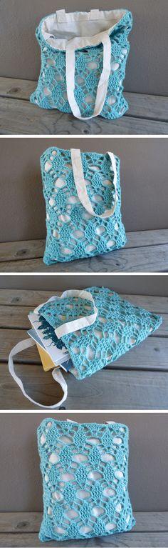 April Tote Crochet Pattern