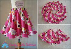 Peppermint Swirl Skirt Tutorial - Free download - Beautiful twirly skirt!!!
