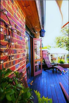 Make an Outdoor Living Room by Building an Awesome Deck like color of deck! Outdoor Spaces, Outdoor Living, Outdoor Decor, Porches, Boho Lifestyle, Garden Design, House Design, Welcome To My House, Relax