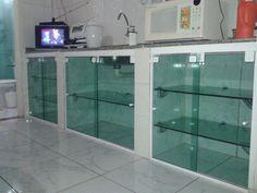 Armário de Vidro para Pias de Cozinha e Banheiro