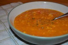 Pumpkin Corn Crab Soup