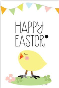 Cute free printable Easter card