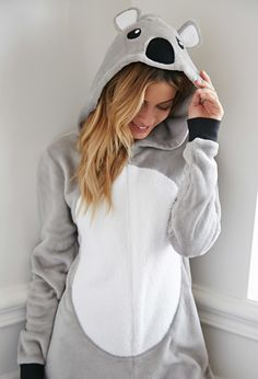 Koala Plush PJ Jumpsuit from Forever Saved to Forever Shop more products from Forever 21 on Wanelo. Cute Onesies, Cute Pjs, Cute Pajamas, Girls Pajamas, Onesie Pajamas, Pyjamas, Girl Outfits, Cute Outfits, Fashion Outfits