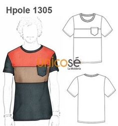 POLERA RECTA CORTES Sewing Men, Sports Models, How To Make Clothes, Polo T Shirts, Fashion Sketches, Designs To Draw, Boy Outfits, Sportswear, Shirt Designs