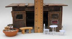 Miniature Gardening 105: Sizing up Your Miniature Accessories (Half-inch scale miniature garden accessories pictured)