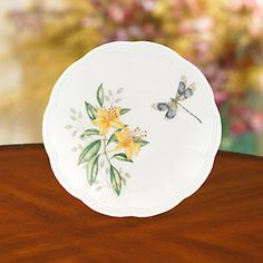 (12) Butterfly Meadow® Party Plate by Lenox (*Dragonfly)