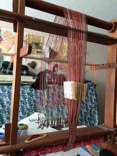 tablet weaving set up