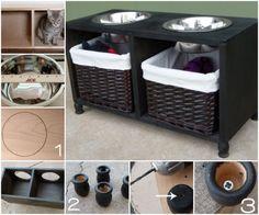 DIY Pet Feeding Station Step by Step Instructions