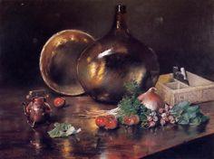 Still Life - Brass and Glass, William Merritt Chase, 1888
