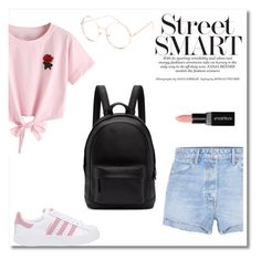 """""""Pink"""" by salome-howard ❤ liked on Polyvore featuring WithChic, Full Tilt, GRLFRND, PB 0110, adidas Originals and Smashbox"""