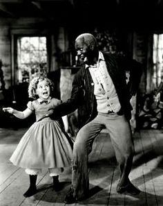Shirley Temple and Bill 'Bojangles' Robinson.