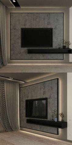 Modern Tv Unit Designs, Modern Tv Units, Living Room Tv Unit Designs, Modern Tv Cabinet, Tv Wanddekor, Backdrop Tv, Tv Feature Wall, Bedroom Tv Wall, Tv Wall Decor