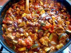 iPobite Gary: Wegetariański gulasz meksykański Veggie Recipes, Snack Recipes, Snacks, Veggie Food, Vegan Vegetarian, Vegetarian Recipes, Healthy Recipes, Chili, Healthy Eating