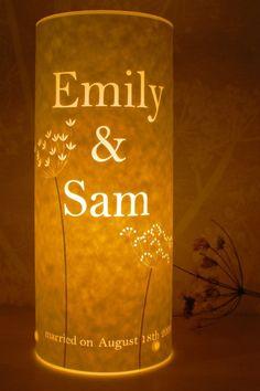 Great for a wedding present or housewarming gift. Custom papercut Love Lamp by Hannah Nunn.