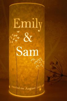 Great for a wedding present or housewarming gift. Custom papercut Love Lamp by Hannah Nunn.
