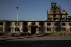 "A general view of buildings in the abandoned Qingquan Steel plant one of several so-called ""zombie factories"", on January 26, 2016 in Tangshan."