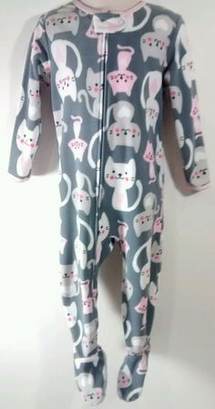 Carter's 24M Girl's One-Piece Zip-Up Footed Totally Adorable Fleece Pajamas  | Clothing, Shoes & Accessories, Baby & Toddler Clothing, Girls' Clothing (Newborn-5T) | eBay!