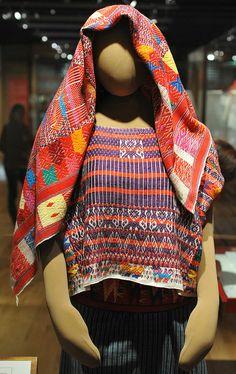 Guatemalan Textiles Palin    This mannequin is dressed in ceremonial clothing from the Poqomam Maya community of Palin, Guatemala. Centro de Textiles del Mundo Maya in San Cristobal de las Casas, Chiapas Mexico