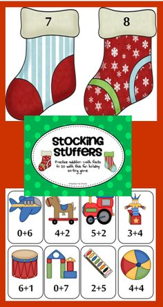 In this game students will match five different addition number sentences with their sum. This games includes math facts 0-20. $