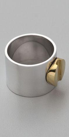 A.L.C. Brass Cigar Band Ring