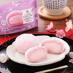 🌸 These sakura-inspired daifuku are from in Japan. 🍡 Daifuku are popular Japanese wagashi which are made of small round mochi and usually filled with red bean paste. 🤤 However, these are instead filled with sweet cherry blossom cream! Kawaii Subscription Box, Sakura Mochi, Japanese Wagashi, Red Bean Paste, Cute Desserts, Sweet Cherries, Red Beans, Rice Cakes, Aesthetic Food