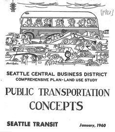 Public transportation report cover, 1960
