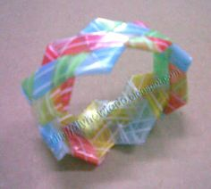 How to Fold or Weave Bracelet from Drinking straw 2 | D . I . Y . <br> Done ! It 's Yours !