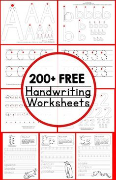 200 free handwriting worksheets (scheduled via http://www.tailwindapp.com?utm_source=pinterest&utm_medium=twpin&utm_content=post89243087&utm_campaign=scheduler_attribution)