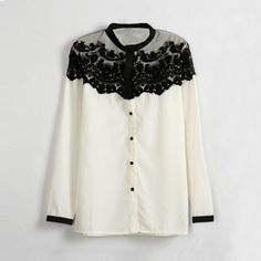 camisa feminina co renda