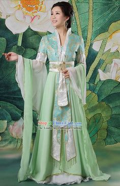 Chinese Women Dress Green