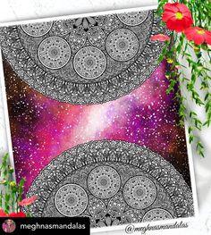 Mandala Canvas, Mandala Artwork, Mandala Drawing, Design Mandala, Instagram Accounts, Galaxies, Arts And Crafts, Tapestry, Drawings