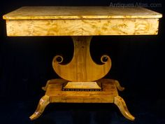 Antique Swedish Biedermeier Ormulu Table - Antiques Atlas