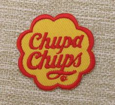 CHUPA CHUPS Single Embroidered Iron On Patch Retro