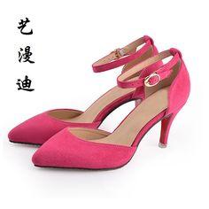 aa0c3f7fdf48 2018 мода плюс маленький Размеры 31 43 бархат Летний стиль пикантные  Высокие каблуки для Сандалии для девочек Для женщин с Обувь женщина  свадебное платье ...