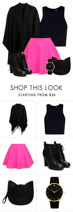 """""""Sin título #763"""" by brenda-199 ❤ liked on Polyvore featuring Pieces, T By Alexander Wang, UNIF, Forever 21 and Larsson & Jennings"""