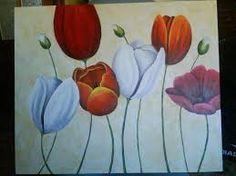 Resultado de imagen para flores pintadas en acrilico