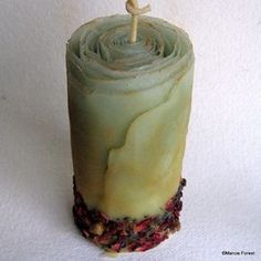 Organic Spice Pillar Candle - Unique Gift, Wedding, Centerpiece, Holiday Home Decor - Beeswax, Roses, Lavender, Cinnamon, Cloves -