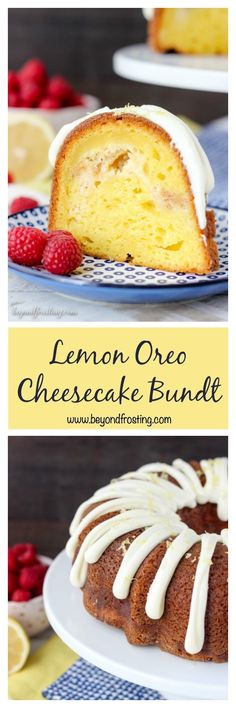 This Lemon Oreo Cheesecake Bundt is a perfectly moist and bursting with lemon flavor. The filling is a lemon Oreo cheesecake and it's topped with a cream cheese glaze and lemon zest.