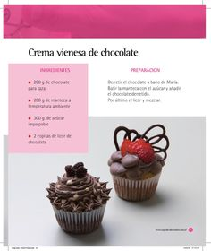Cobertura de los cupcakes