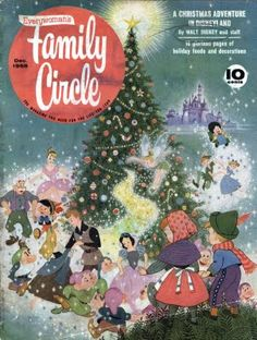 "From December 1958 _ Family Circle Magazine. This issue features the tale of ""A Christmas Adventure in Disneyland"". The Disneyland story covers eleven pages and has poems and song lyrics accompanying it."