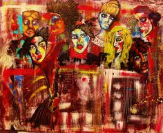 """Contemporary Painting - """"Who Am I in This Crowd?"""" (Original Art from Penelope Przekop)"""