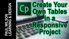 Adobe Captivate - Create Tables in a Responsive Project